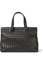 Bottega Veneta Medium Intrecciato Leather Tote Black