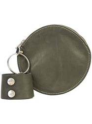 Guidi Round Pouch Bag Green