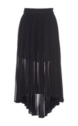 Antonio Berardi Pleated Asymmetric Skirt Black