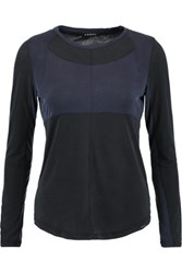 Koral Two Tone Modal Blend Top Midnight Blue