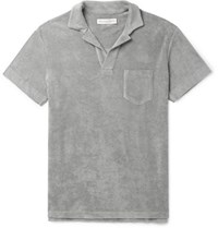 Orlebar Brown Cotton Terry Polo Shirt Gray