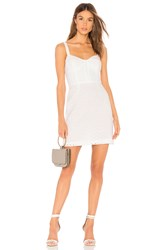 Milly Floral Eyelet Bustier Dress White