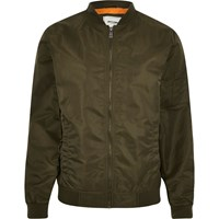 Only And Sons River Island Dark Green Bomber Jacket