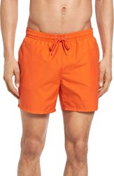 Lacoste Men's Solid Swim Trunks Pumpkin Pumpkin