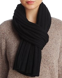 Bloomingdale's C By Ribbed Cashmere Scarf 100 Exclusive Black