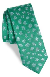 The Tie Bar Fruta Floral Silk And Linen Green