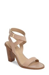 Very Volatile Women's Poshy Ankle Wrap Sandal Nude Leather