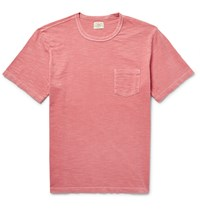 Faherty Slub Cotton Jersey T Shirt Orange