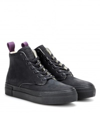 Eytys Odyssey Leather High Top Sneakers Black