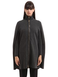 Salvatore Ferragamo Cashmere Blend Cardigan And Cape