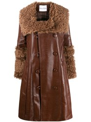 House Of Sunny Croco Double Breasted Coat 60
