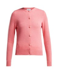 Barrie Arran Pop Cashmere Cardigan Pink
