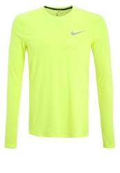 Nike Performance Miler Long Sleeved Top Volt Reflective Silver Neon Yellow