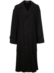 Y's Double Breasted Coat Black