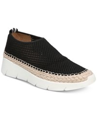 Franco Sarto Pascha Perforated Slip On Espadrille Fashion Sneakers Black