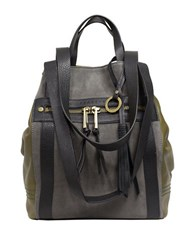 Sanctuary Leather Convertible Bag Olive Black Grey