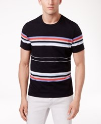 Inc International Concepts Men's Striped Crew Neck T Shirt Only At Macy's Black