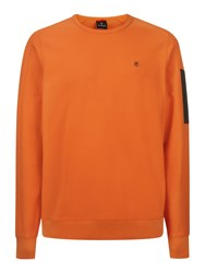 Victorinox Soldat Pique Crew Neck Sweatshirt Orange