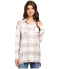 O'neill Gretchen Button Down Blouse Moonbeam Women's Long Sleeve Button Up Taupe
