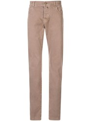 Kiton Slim Fit Trousers Neutrals