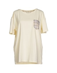 Barbour T Shirts Ivory
