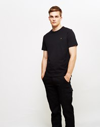 Farah Denny Short Sleeve Crew Neck T Shirt Black