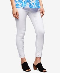 A Pea In The Pod Maternity White Wash Skinny Jeans