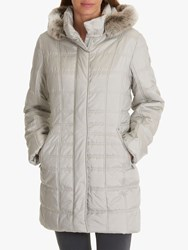 Betty Barclay Quilted Puffer Coat Light Silver