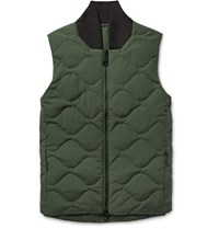 Saturdays Surf Nyc Aturday Koji Quilted Cotton Blend Down Gilet Army Green