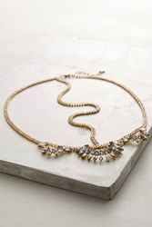 Anthropologie Giselle Crystal Crown Gold