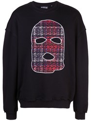 Mostly Heard Rarely Seen Hide And Seek Print Sweatshirt Black