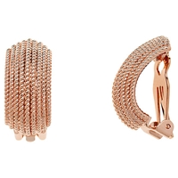 Finesse Textured Clip On Earrings Rose Gold