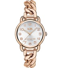 Coach 14502255 Delancey Rose Gold Plated Watch