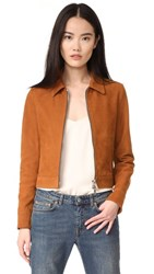 Golden Goose Mini Leather Jacket Brown