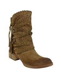 Naughty Monkey Vamp Phyer Suede Boots Tan