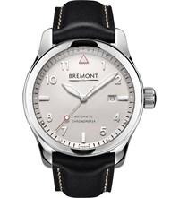 Bremont Solo Pw Stainless Steel And Calf Skin Leather Watch