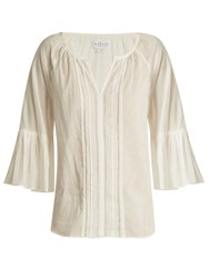 Velvet By Graham And Spencer Celina Summer Bell Cuff Cotton Top Cream
