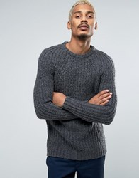 Pull And Bear Pullandbear Chunky Knit Jumper In Grey Grey