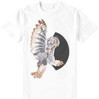 Neil Barrett Mechanical Owl Tee White