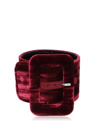 Attico 2 Crushed Velvet Buckled Ankle Cuffs