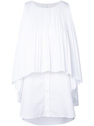 Monographie Pleated Tank Top White