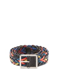 Paul Smith Reversible Woven Leather Belt Multi