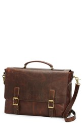 Frye Men's 'Logan' Leather Briefcase Brown Dark Brown