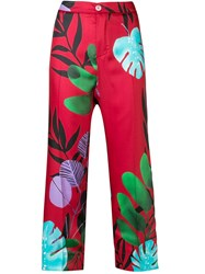 F.R.S For Restless Sleepers Flower Print Trousers Red