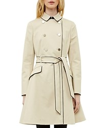 Ted Baker Gilliy Skirted Trench Coat Taupe