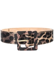 Veronica Beard Leopard Print Belt 60