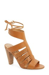 Lucky Brand Women's Radfas Lace Up Sandal Cafe Leather