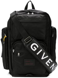 Givenchy Wide Functional Backpack Black
