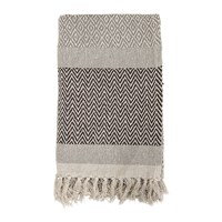 Bloomingville Tassel Edged Cotton Throw Brown 160X130cm