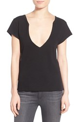 Women's Pam And Gela Lace Up Back Plunge Tee